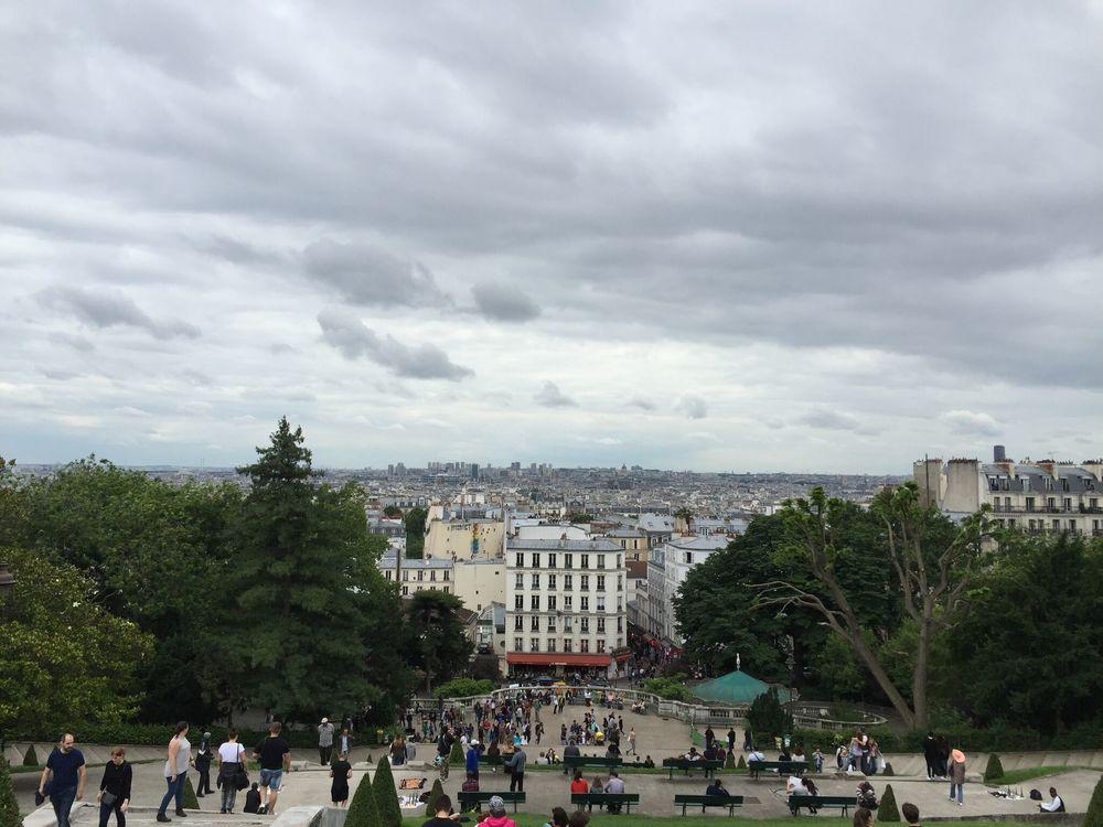 View of Paris, France from La Basilica du Sacre Coeur