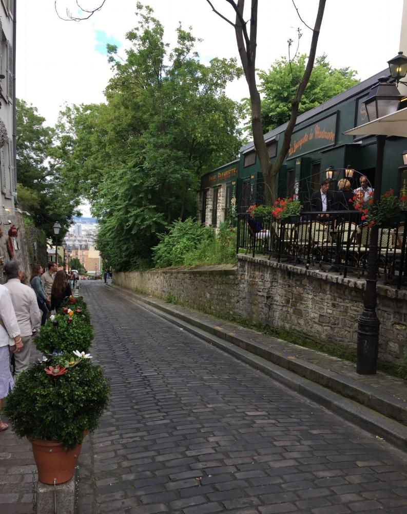 Street in Montmartre, Paris, France