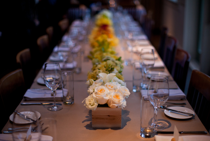 Yellow Ombre Floral Centerpieces - lifewithstyle.co