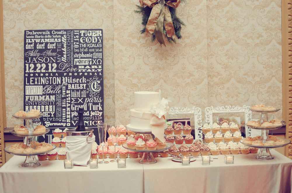 Dessert Bar - Gold Ballroom, Westin Poinsett, Greenville, SC - Alea Moore Photography - lifewithstyle.co