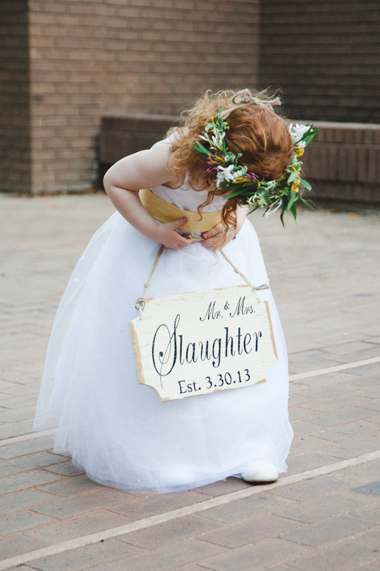 Flower Girl with Sign - Apryl Ann Photography - lifewithstyle.co
