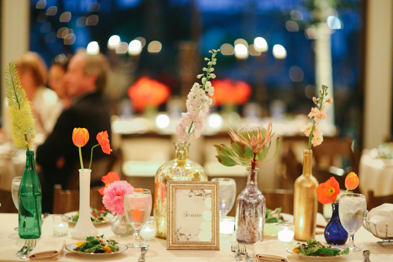 Mixed Bottle Centerpiece - Apryl Ann Photography - lifewithstyle.co