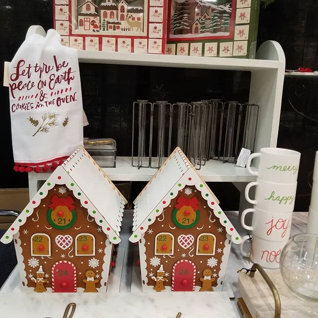 Good news! Gingerbread Advents will be restocked today.  @jlwfchristmasmagic #lastchance #christmasmagic2018 #mybooth #lifewithstyle