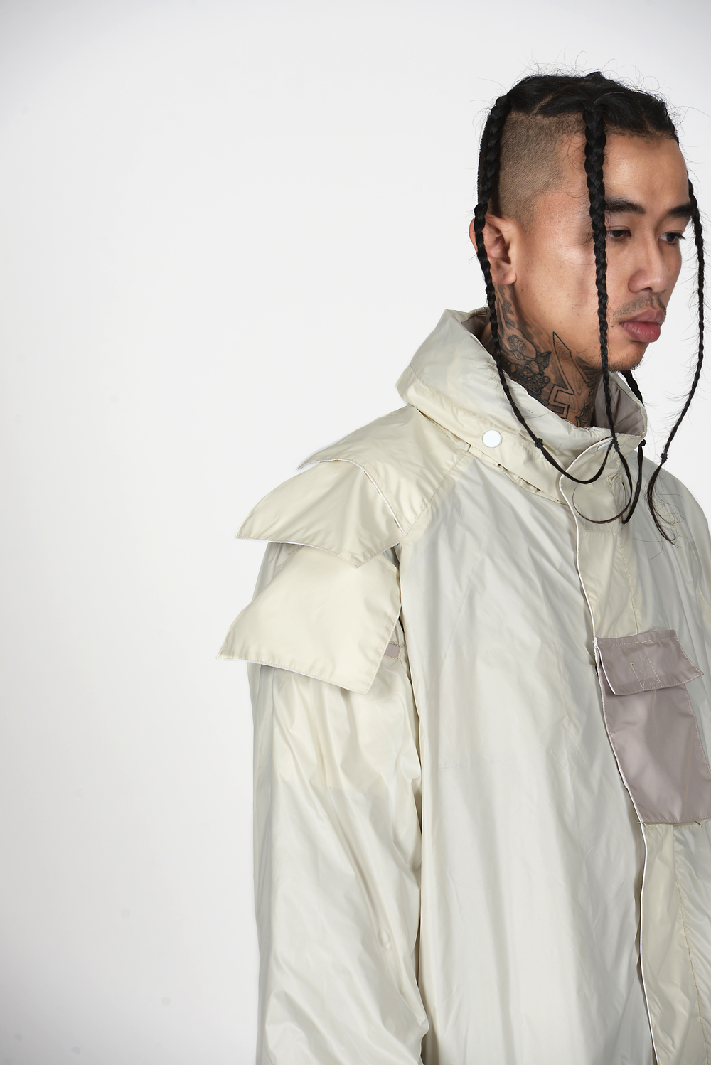 03 Heightened Sense white rain coat.jpg