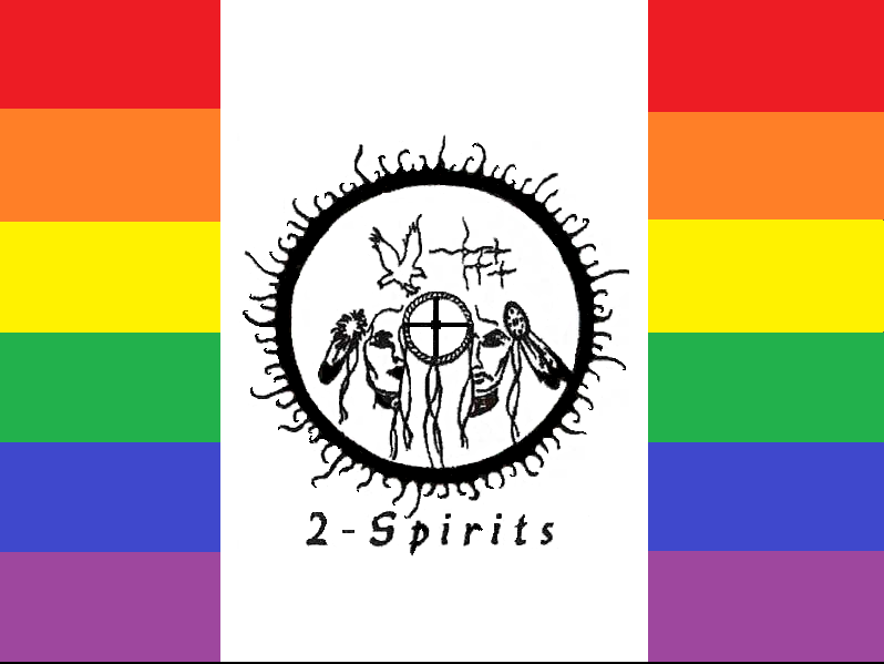 Two-Spirit Referring to any and all gender identities and titles amongst and sometimes unique to those of Indigenous American peoples outside of the binary male/female.