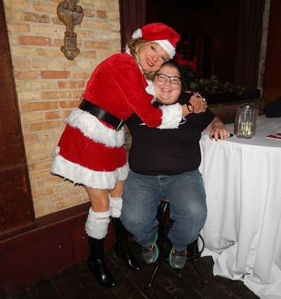 Santa Billie and Jason, our Amazing Volunteer Office Assistant