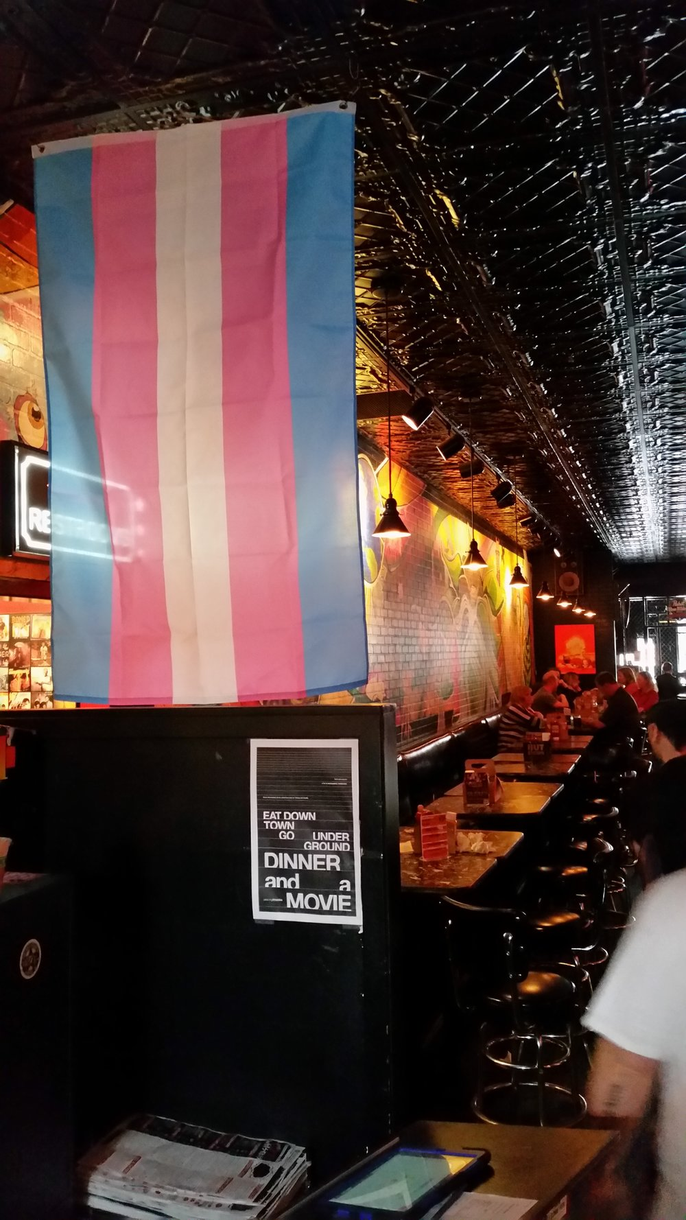 Trans Flag flown @ Stella's Lounge