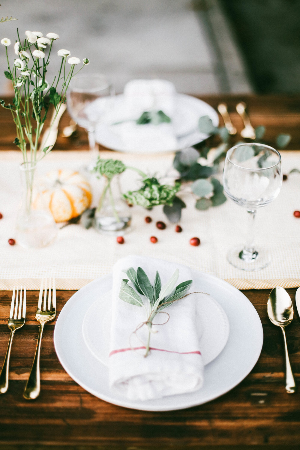 Botanical Harvest Table Setting & Botanical Harvest Table Setting u2014 College Housewife