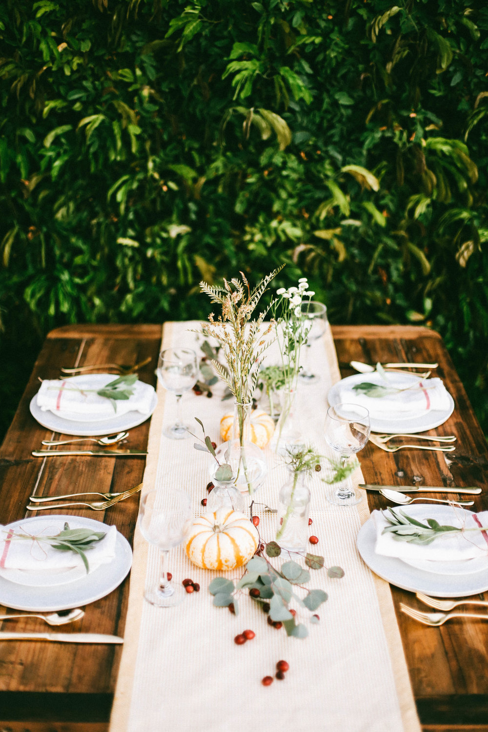 Botanical Harvest Table Setting — College Housewife