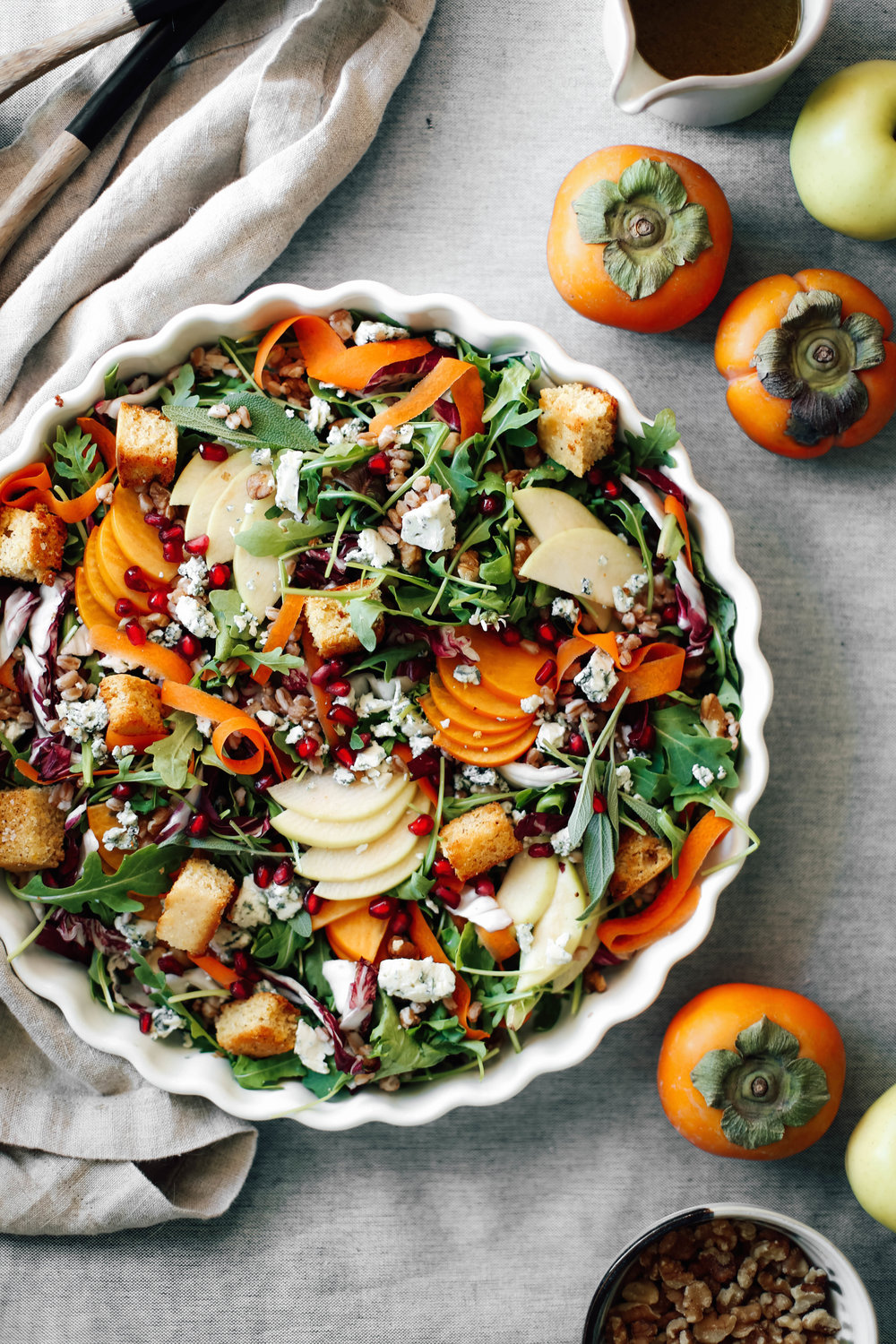 Apple and persimmon salad with chinese 5 spice cornbread croutons-5.jpg