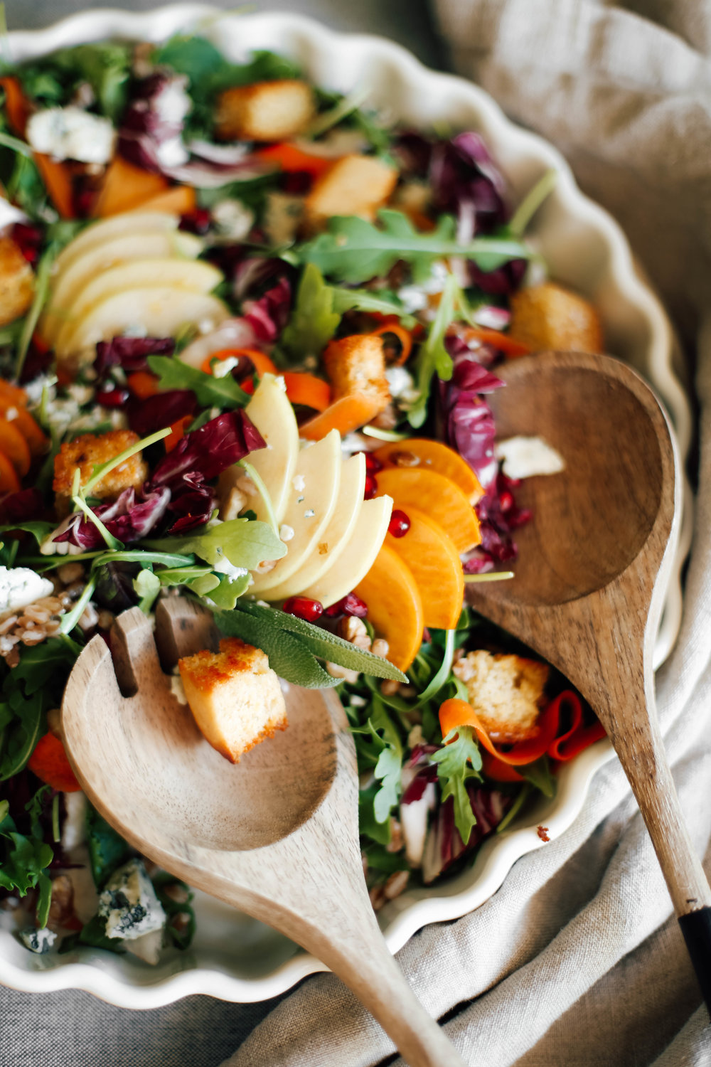 Apple and persimmon salad with chinese 5 spice cornbread croutons-9.jpg