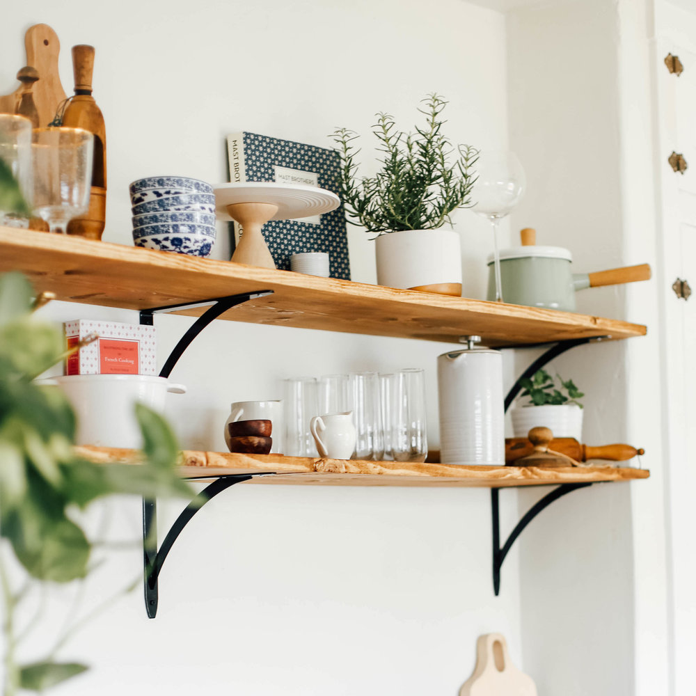 Open Kitchen Shelves for under $100 — College Housewife