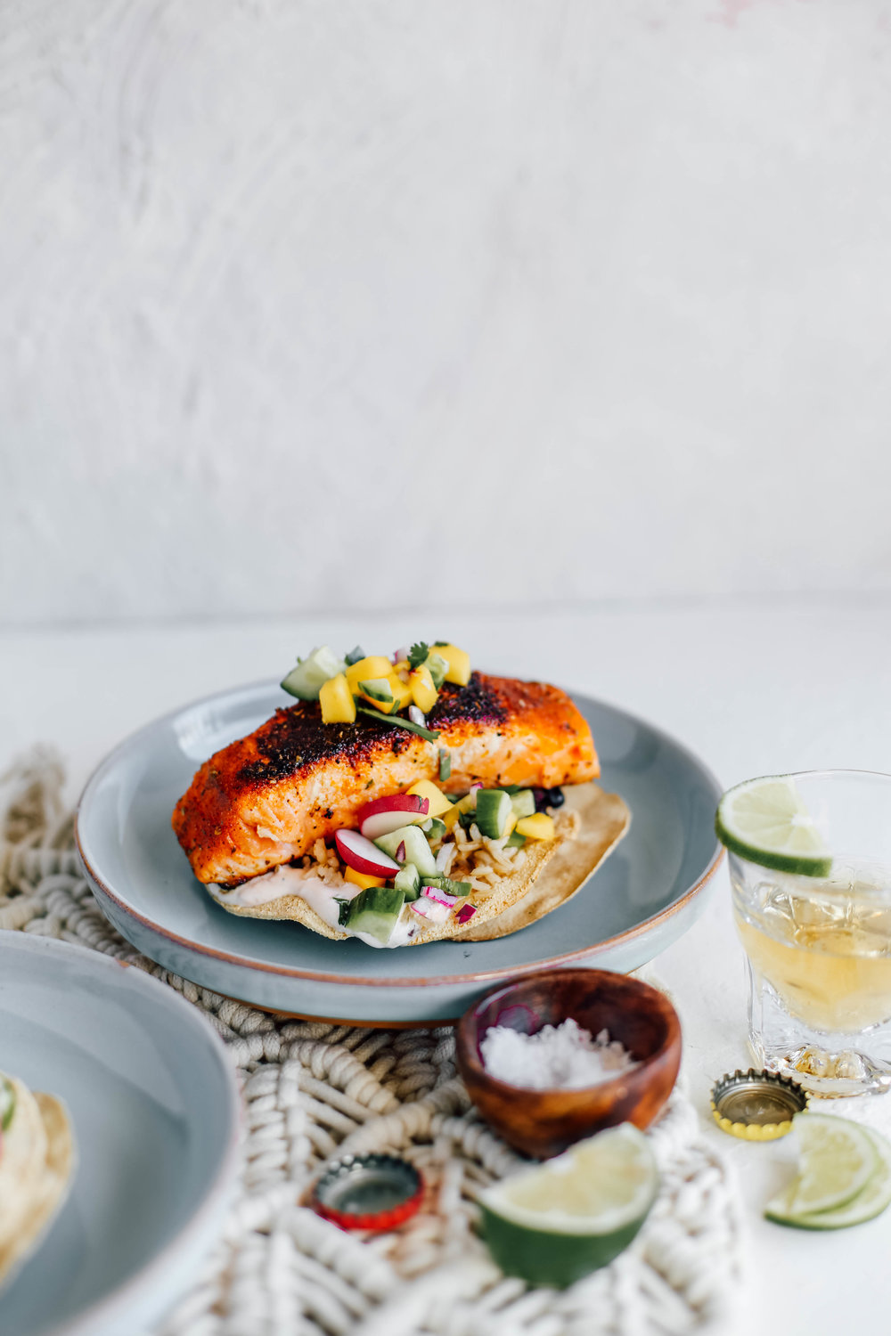 Blackened Salmon Tostadas with Cucumber Mango Salsa-7.jpg