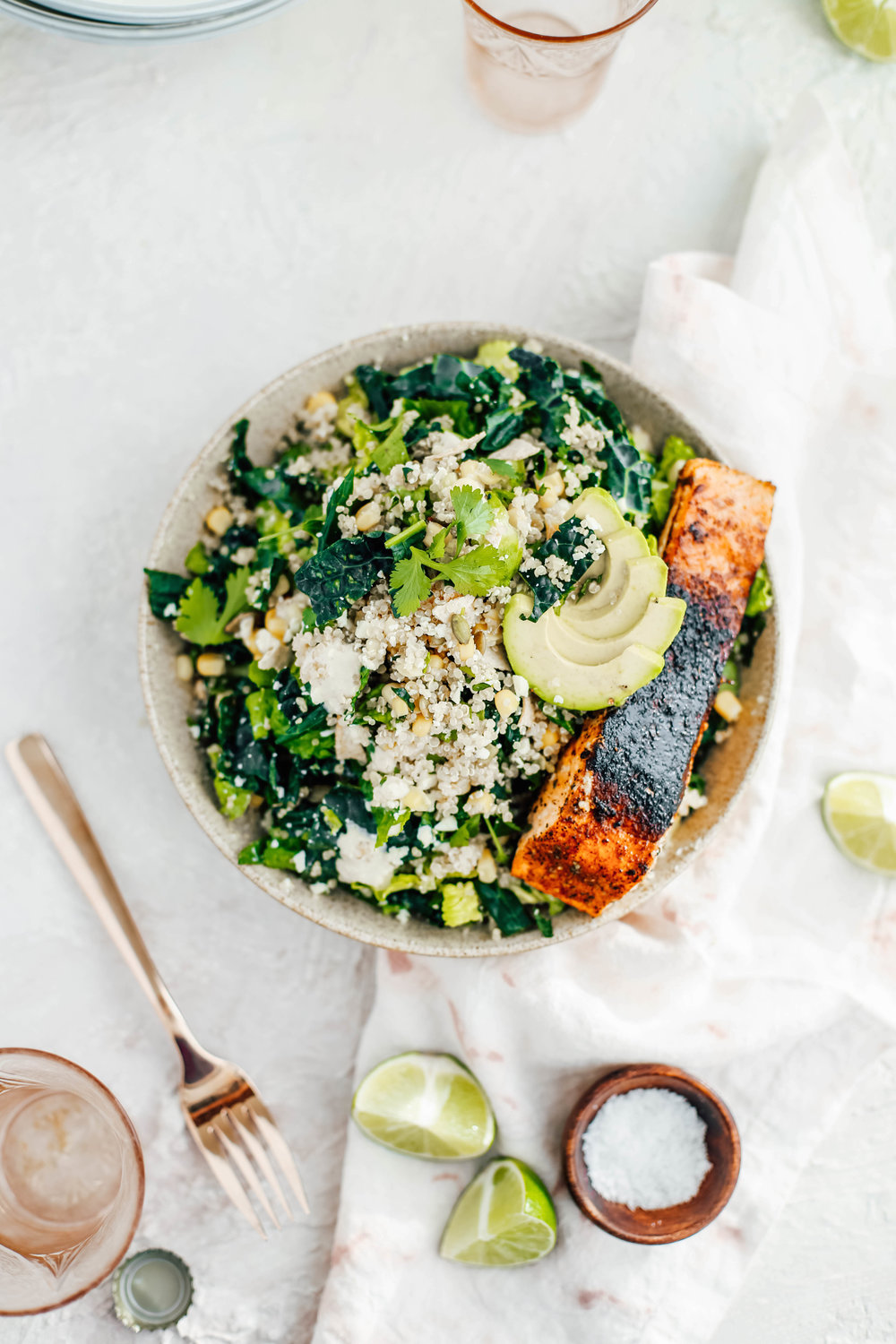 Golden Corn & Quinoa Mexican Caesar Salad with Blackened Salmon-12.jpg