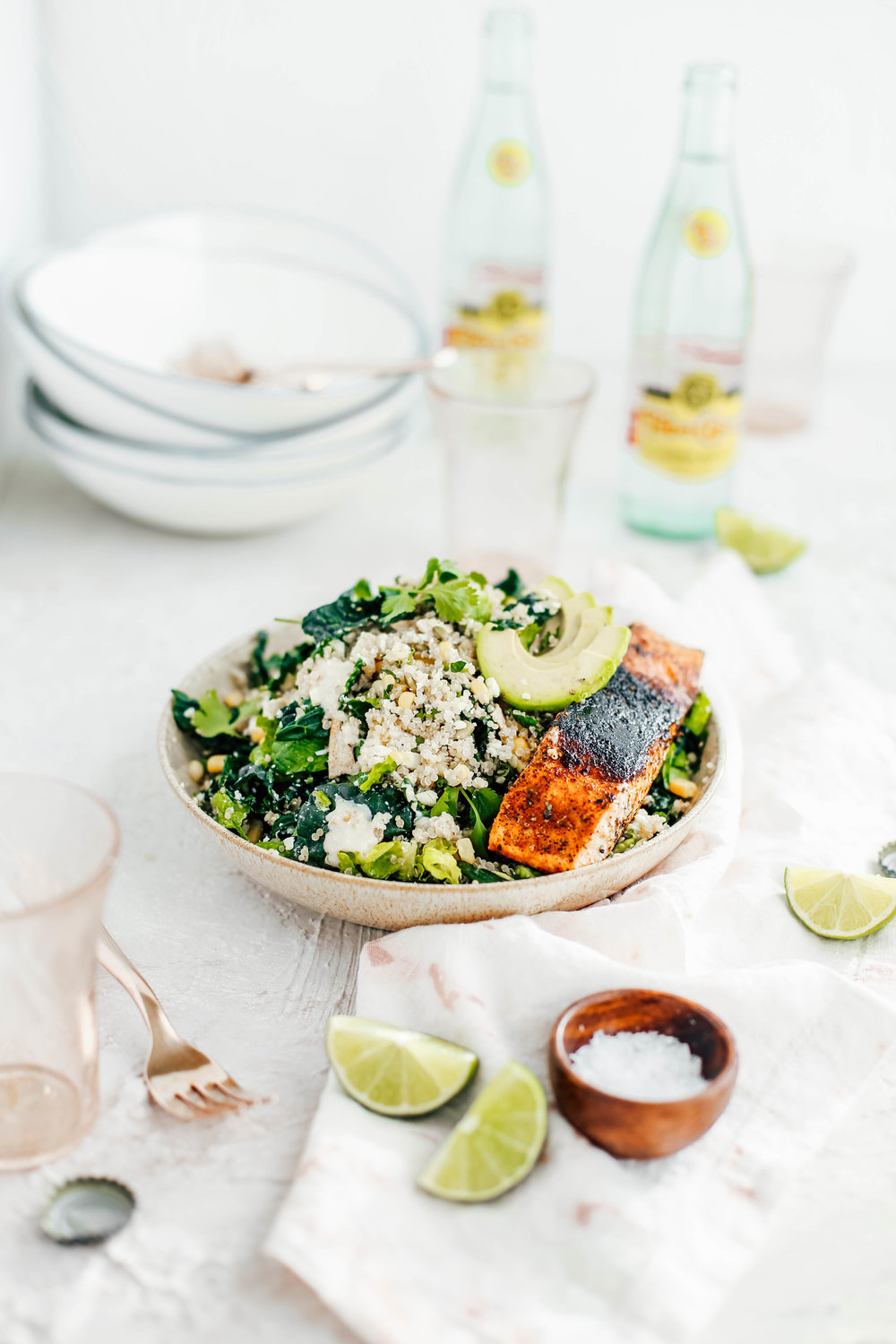 Golden Corn & Quinoa Mexican Caesar Salad with Blackened Salmon-11.jpg