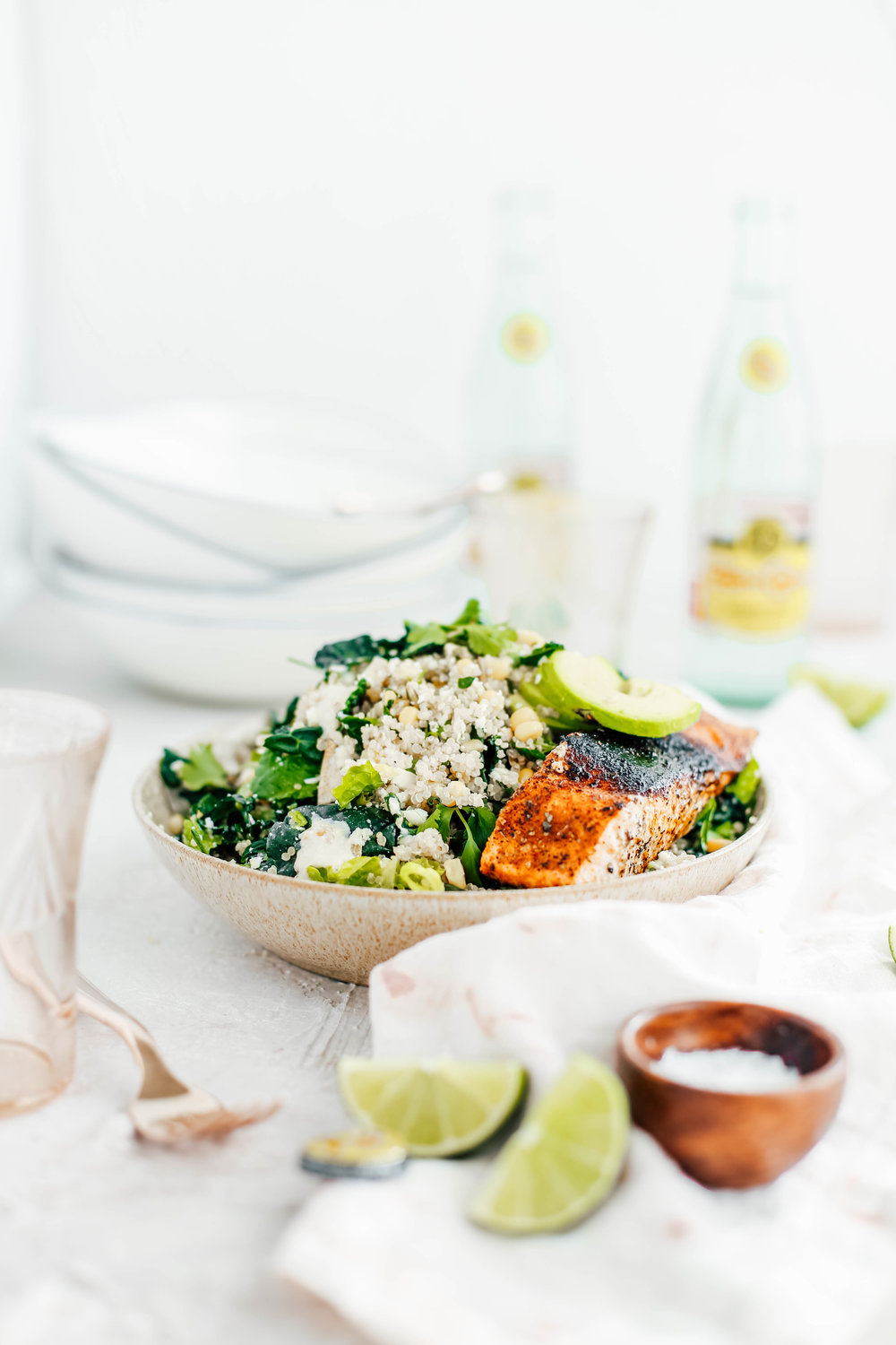Golden Corn & Quinoa Mexican Caesar Salad with Blackened Salmon-9.jpg