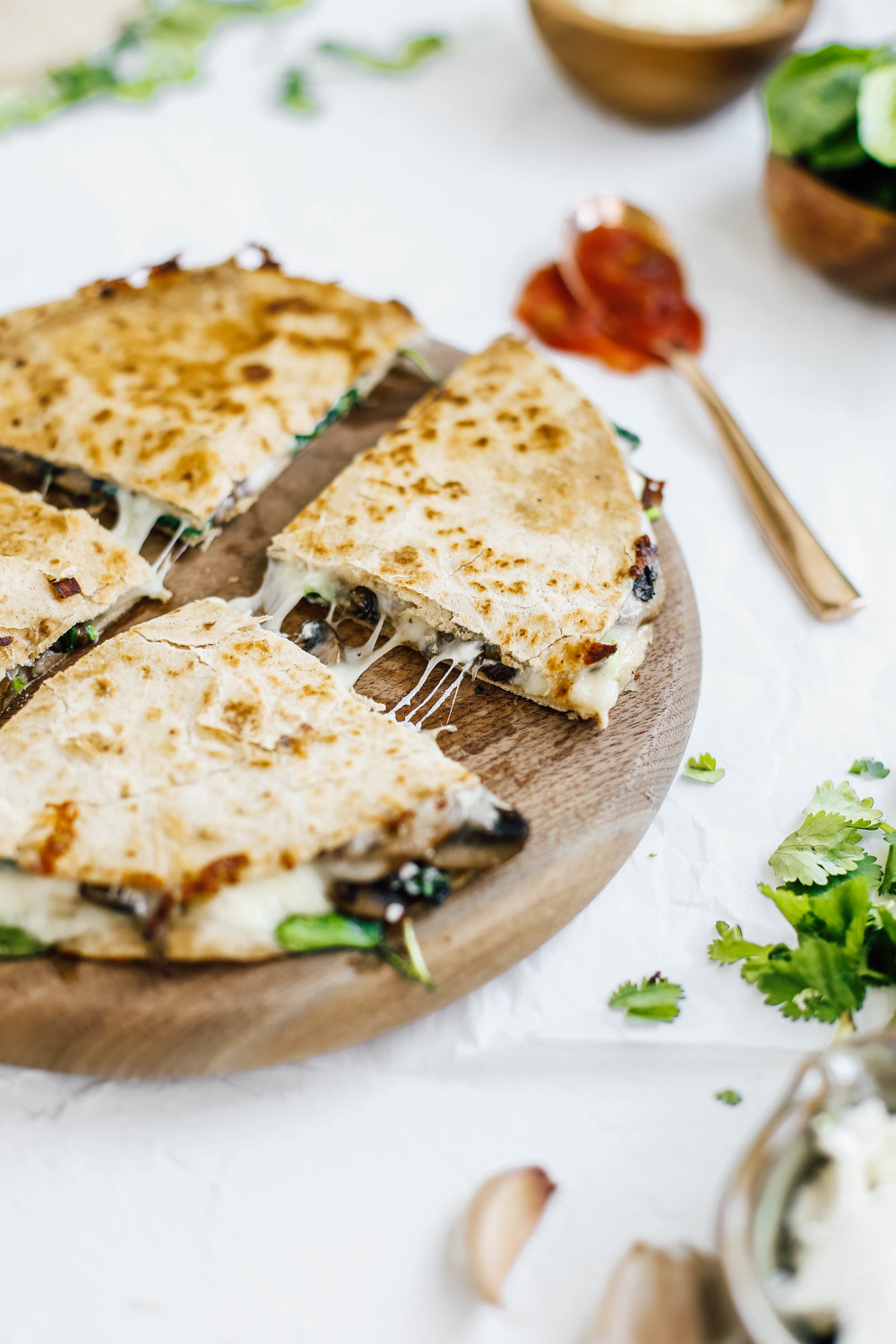 Caramelized Spinach & Mushroom Goat Cheese Quesadillas-3.jpg