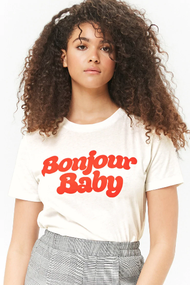 Bonjour Baby Graphic Tee