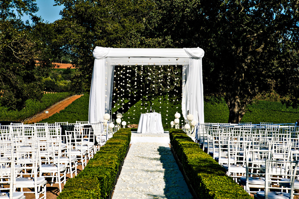 04. chuppah, hanging flowers, hanging gardenias, napa wedding, vineyard wedding.jpg