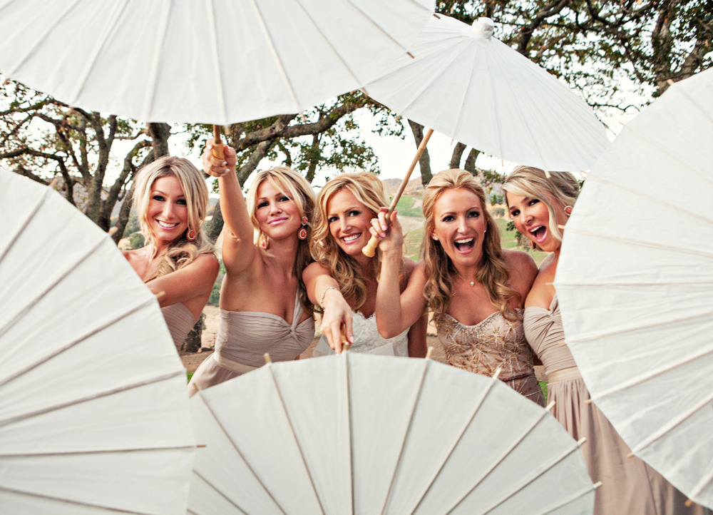21. vineyard ceremony, summer wedding, wedding parasols, artsy bridesmaids+bride pictures.jpg
