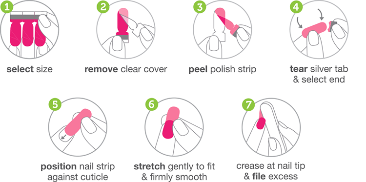 Apply Coconut Nail Art's nail polish strips with these how-to steps.