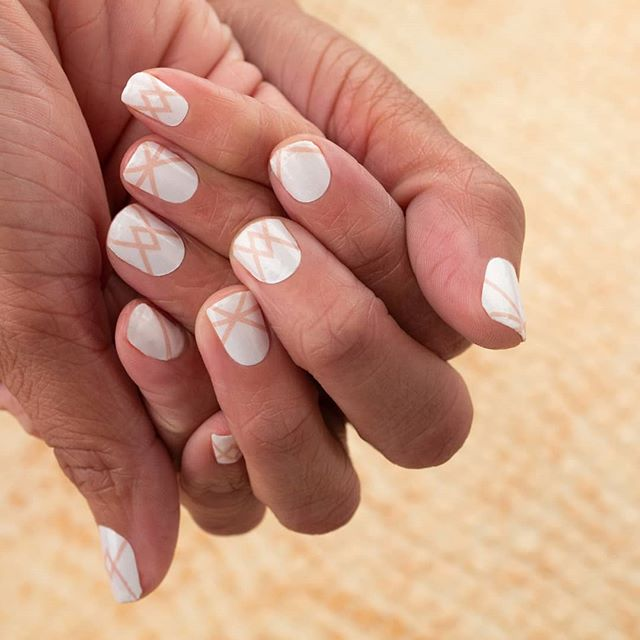 """""""Make the Cut"""" delivers minimal nail art in a fresh, neutral palette. #coconutnailart #incoco #walmartstyle #minimalnails"""