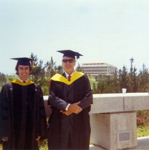 phd graduation, university of california irvine, with dr. arthur boughey