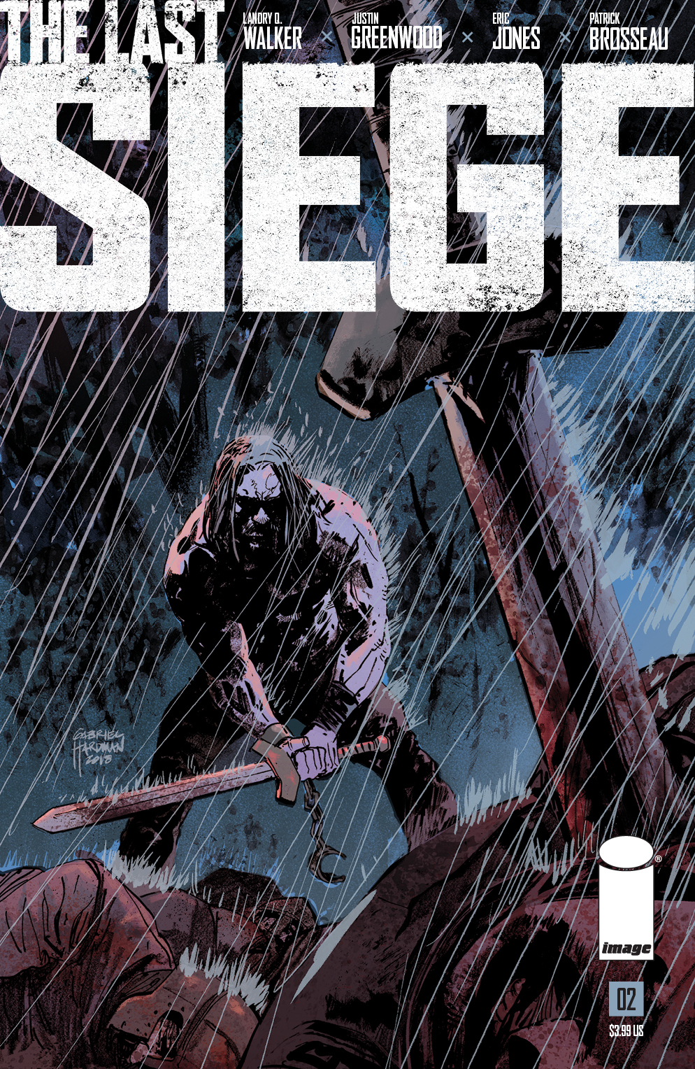 THE LAST SIEGE #2 variant cover by Gabriel Hardman and Brad Simpson