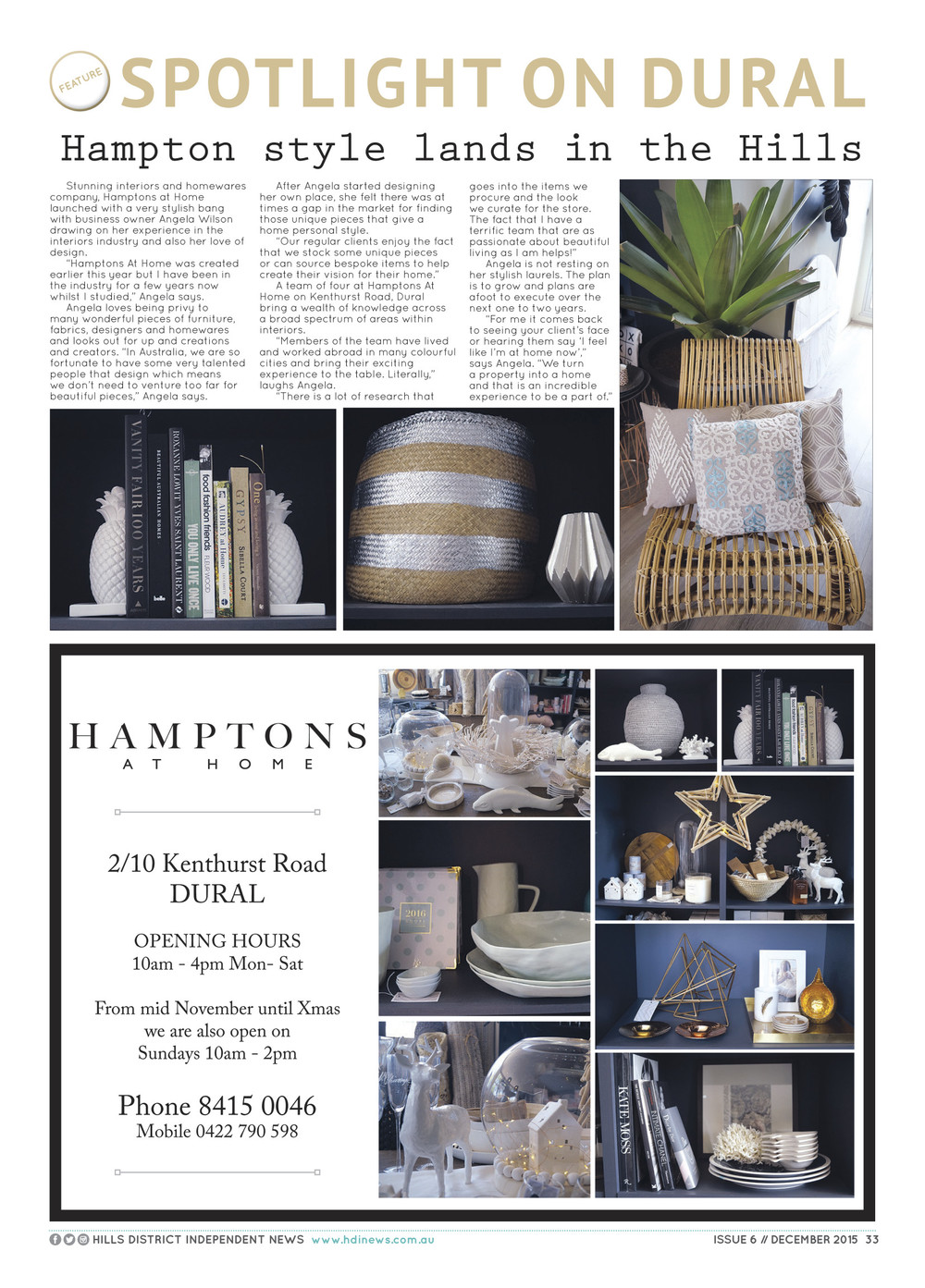 Hills District Independent Magazine