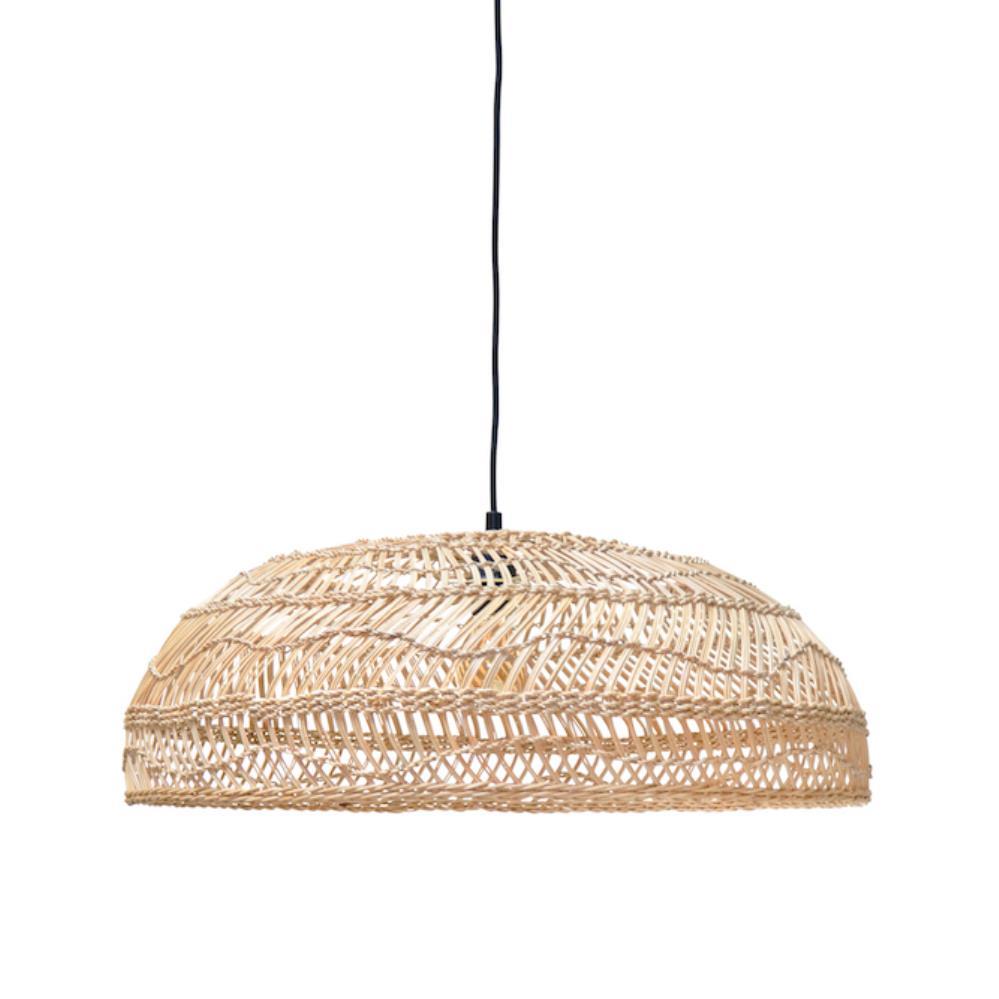 Wicker Hanging Lamp Medium — HAMPTONS AT HOME