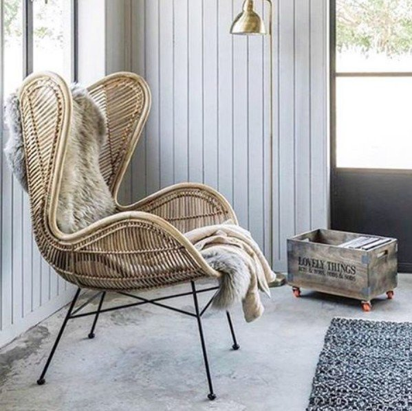 Hk Living Rattan Egg Chair Hamptons At Home
