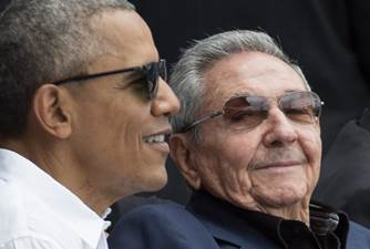 President Obama and Cuban President Raúl Castro attend a baseball game in Havana. (Michael Reynolds/European Pressphoto Agency)