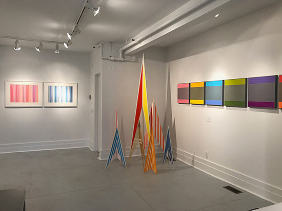"Folio East's group show ""Color Pop"" at Malia Mills."