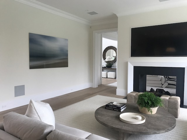Recent art installation in a magnificent house on Hook Pond Lane, East Hampton.