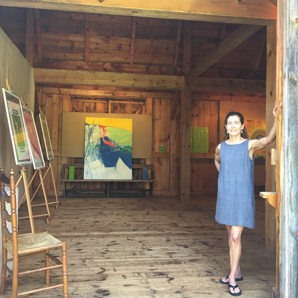 The BOLD show in the Jackson Carriage House, Amagansett. Featuring strong, colorful sculptures, prints and paintings, August 31-September 3, 2018.