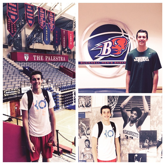 Charlie Warner hitting the recruiting trail during his visits to Penn and Bucknell.