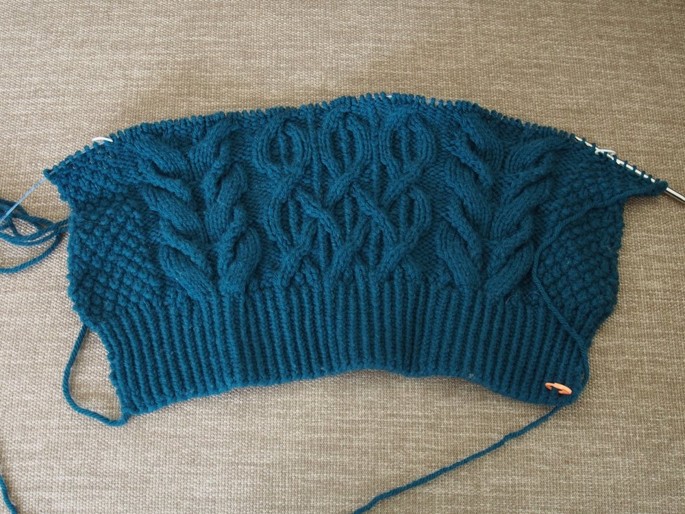 This was the progress on the sweater for over a year.