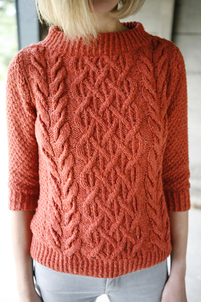 The Beatnik Sweater, by Norah Gaughan for Knitty Magazine.