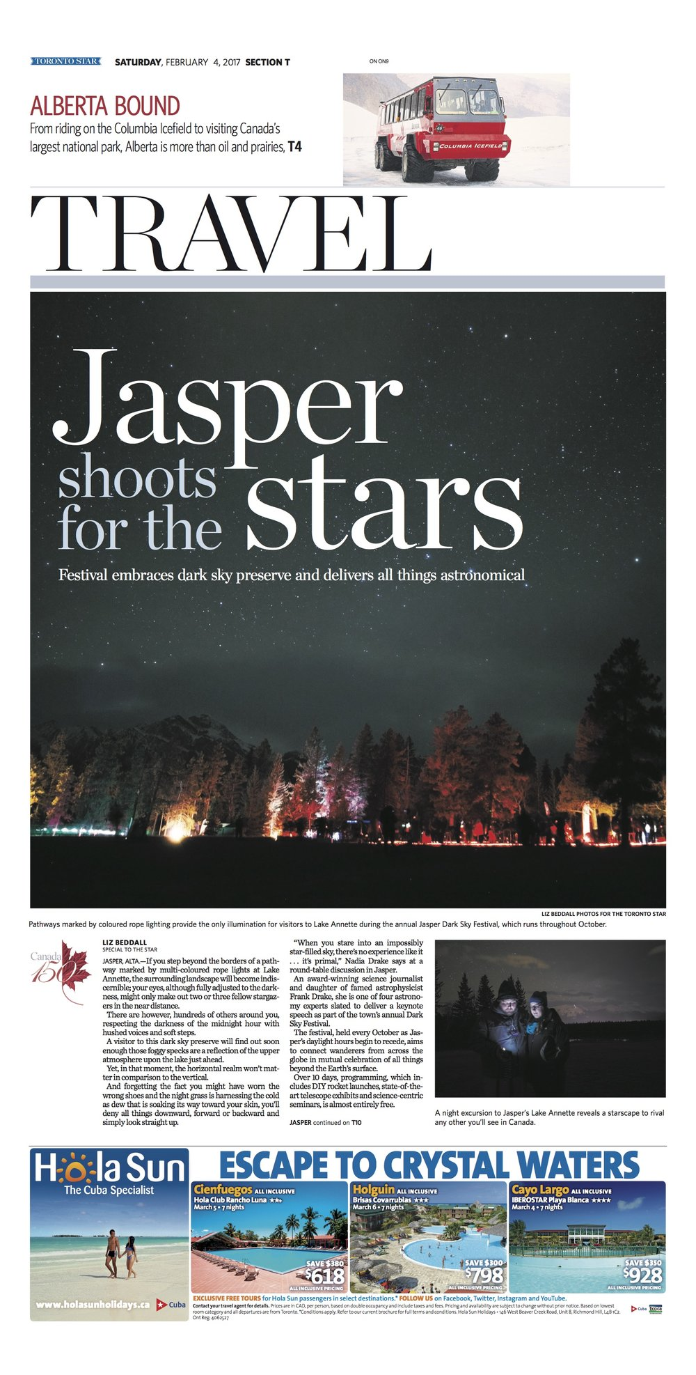 Jasper, Alberta: Feb. 4, 2017