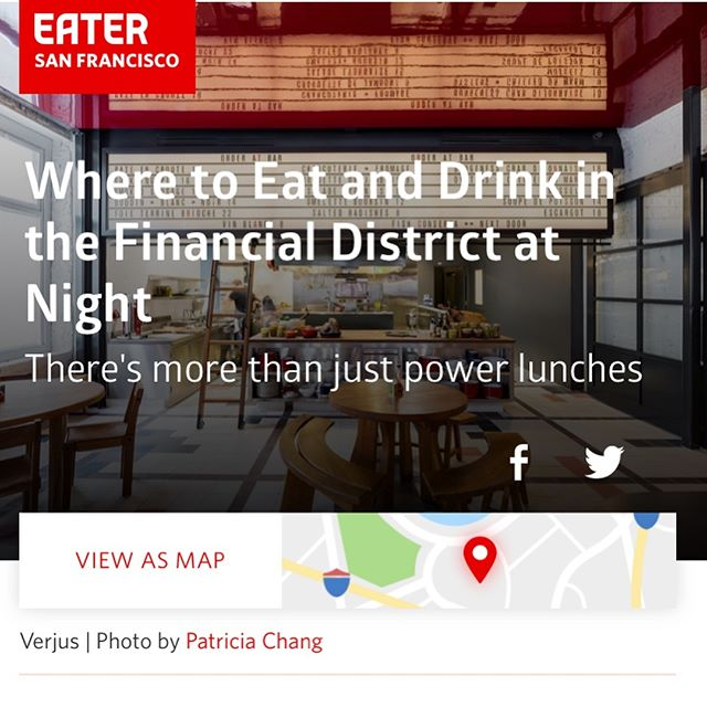 Thank you @eater_sf ! Come join us for our breakfast, lunch or twilight hour, join us for a cup of coffee or a glass, also crafted aperitif cocktails ! See you soon! #restaurant #downtown #sanfrancisco #collaboration with #local #bayarea #farms @eater_sf @cuesa #breakfast #lunch #winenight #coffee #seasonalmenu