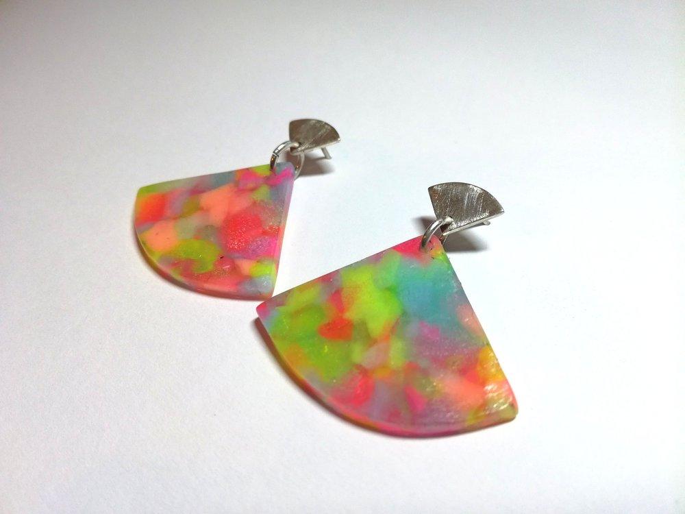 Short Fan style Ear Candy in 'Tutti Fruitti' colours