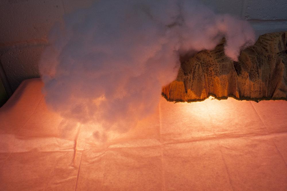 Megan built this lightbox in order to create otherworldly lighting scenarios for her work