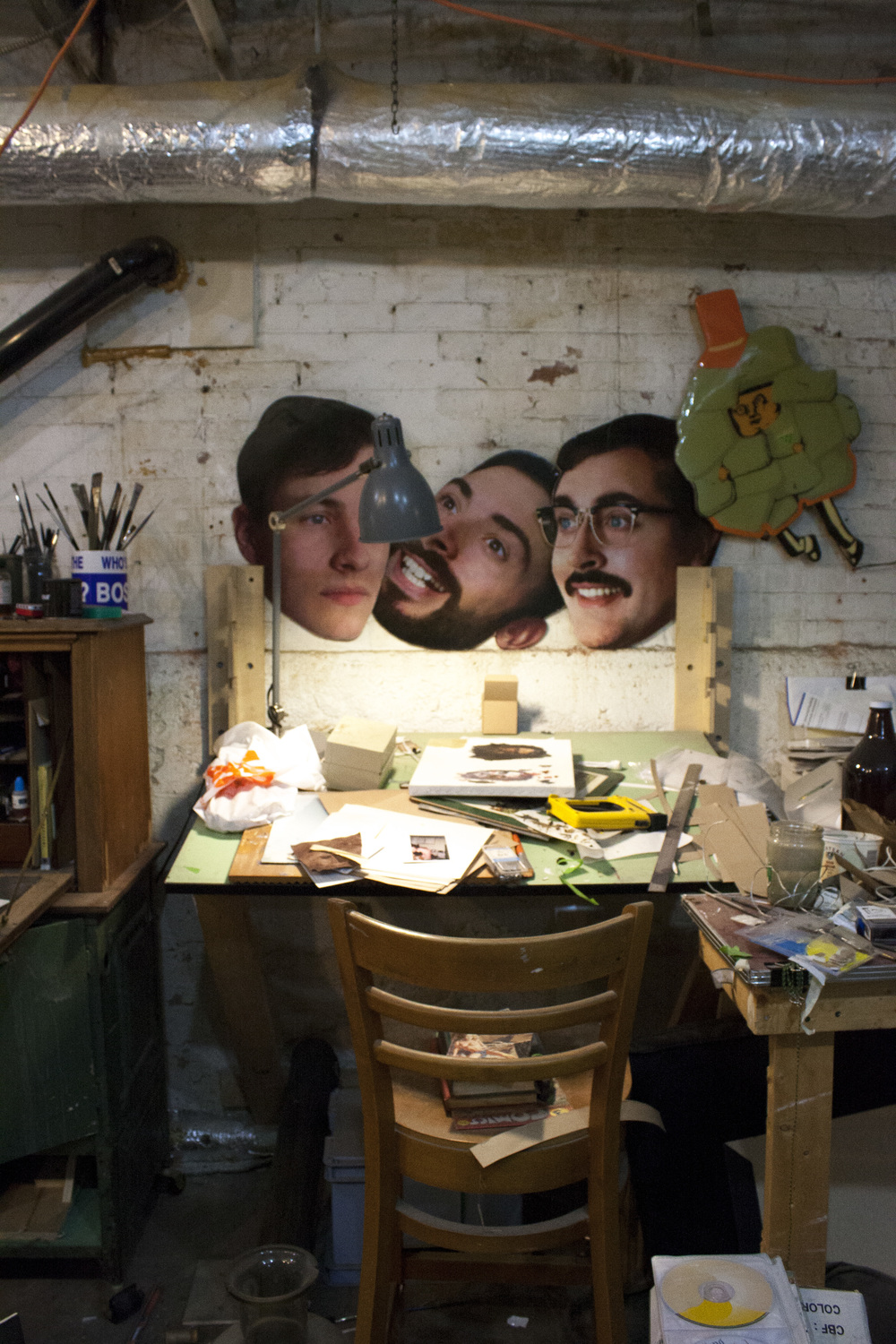 the disembodied heads of (Some of) Team macho. left to right: Stephen Appleby-Barr, Jacob Whibley and Lauchie Reid.