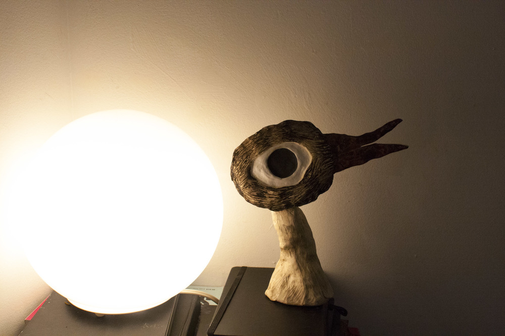 This bird head is a recurring creature in many of juliana's illustrations and ceramics.