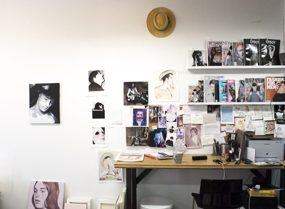 Kris' meticulously organized desk where he does a lot of his glamorous administrative tasks.