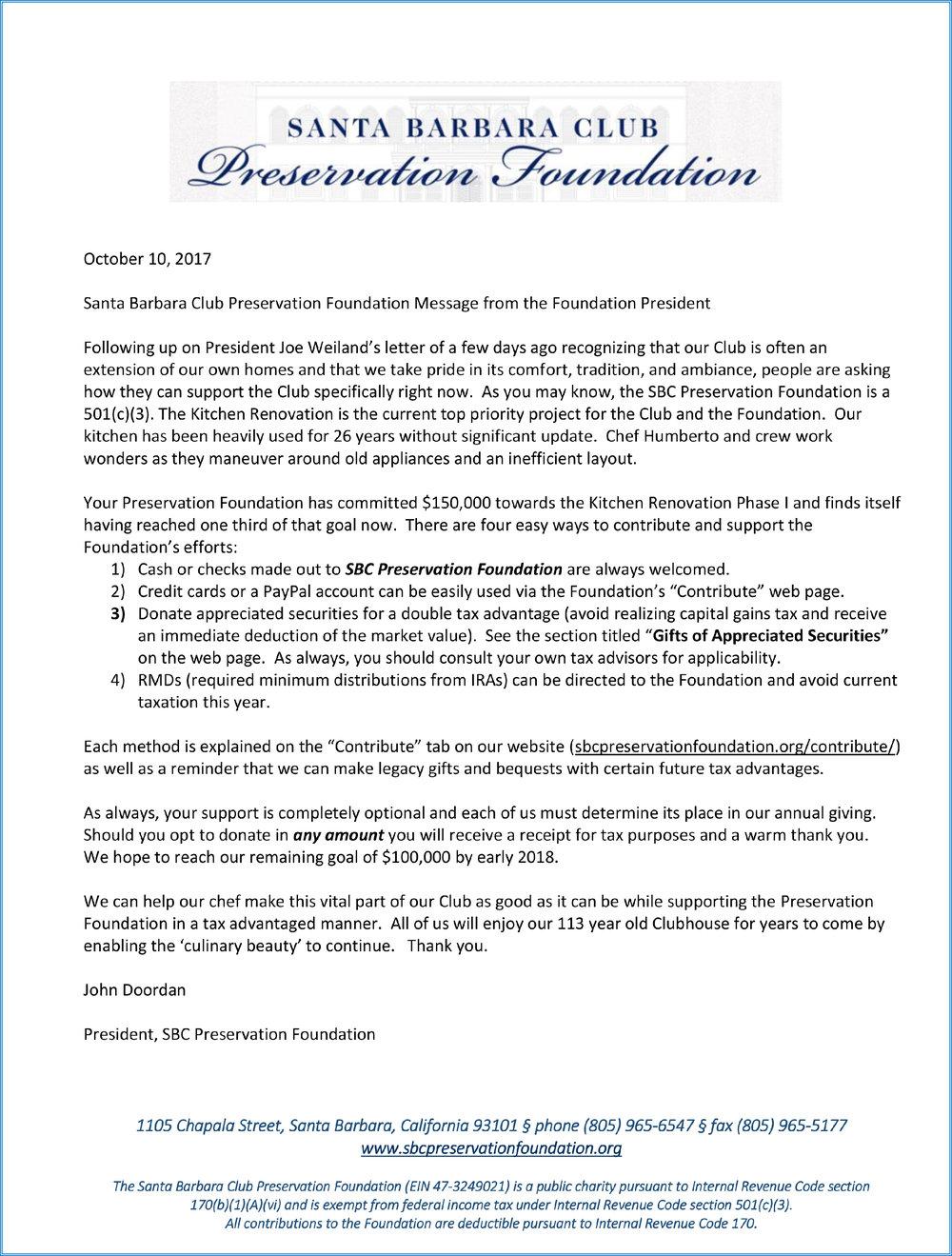 SBCPF Message from Foundation President John Doordan October 2017.jpg