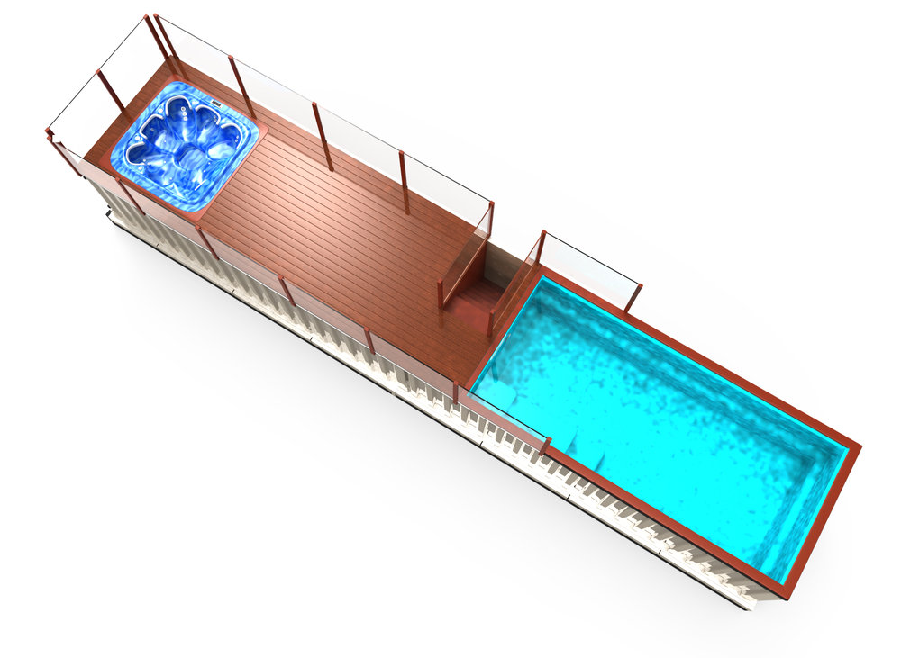portable swimming pools shipping container pools container pools nz. Black Bedroom Furniture Sets. Home Design Ideas