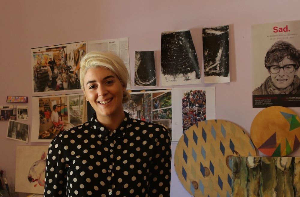 Alise Hardy in studio