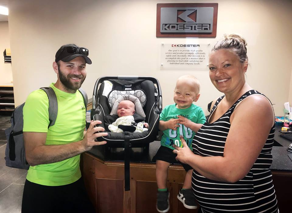 May 24, 2018   We had a visit this week from our tiniest new team member! Congrats to Ryan, Nicole, and big brother Maddox on the arrival of baby Grayson!