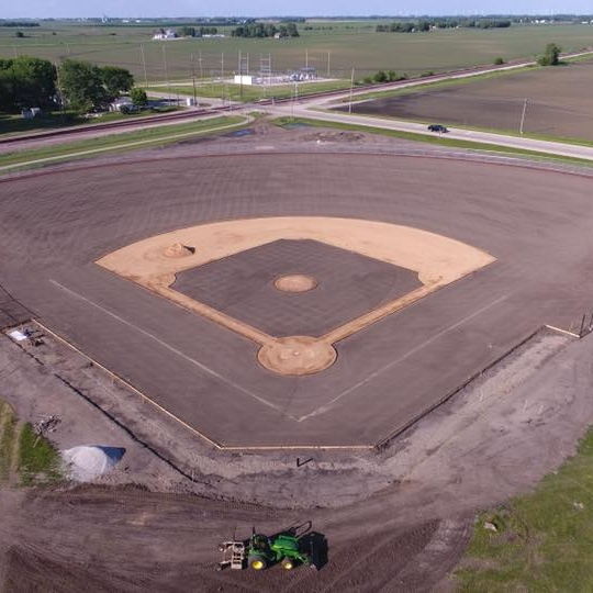 June 4, 2018   We've completed the field perimeter fencing, and are now moving on to the footings for the dugouts and concession stand at Nevada High School's new baseball facility! Thanks to  Iowa Cubs Sports Turf  for their excellent work on the project.  This project consists of a brand new field, concession stand, grandstands, press box, two dugouts, coach's office, team locker room, and batting cages. ⚾